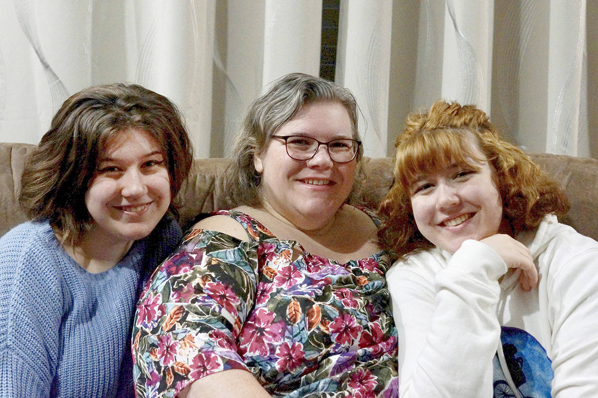 Jen Papageorge, 52, with her teenage daughters Keira and Talia are members of the Westcoast Harmony Chorus. (Special to Langley Advance Times)