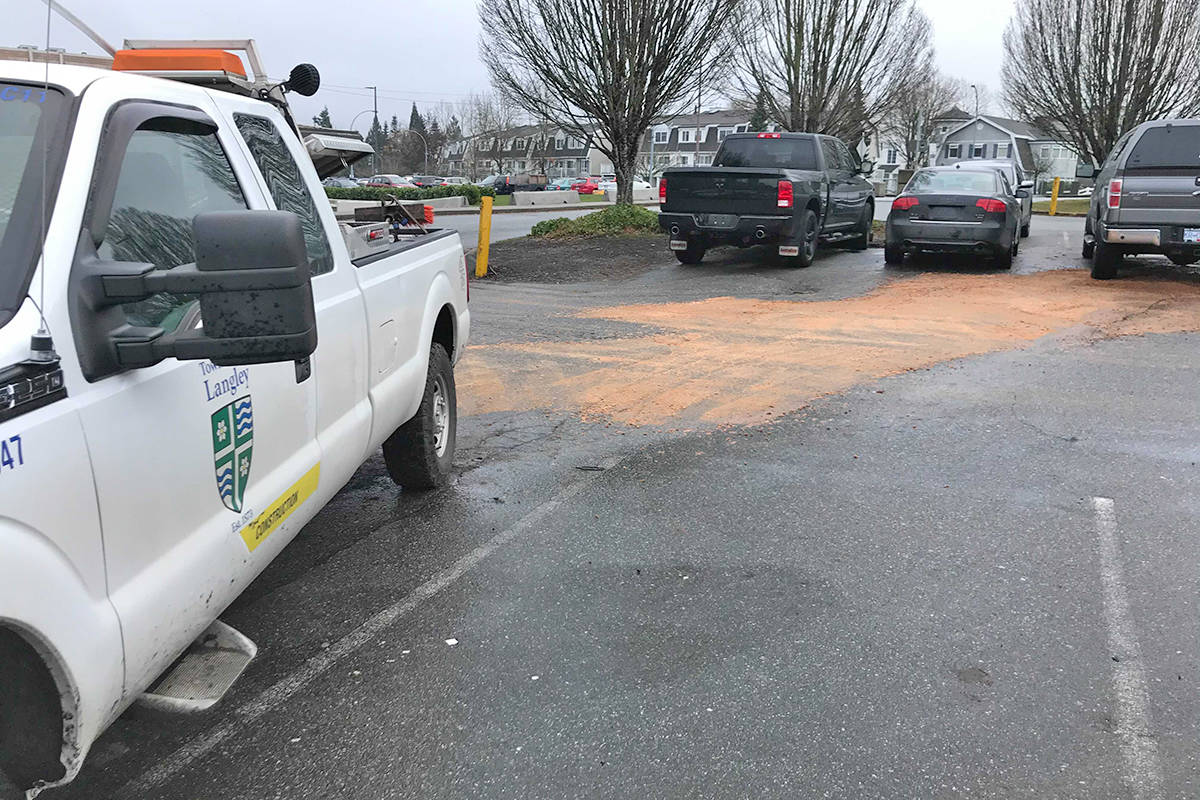A fuel leak at the Walnut Grove Community Centre resulted in fumes getting into Walnut Grove Secondary so the start of the school day was delayed as the building was ventilated on Friday, Jan. 15, 2021 (Matthew Claxton/Langley Advance Times)