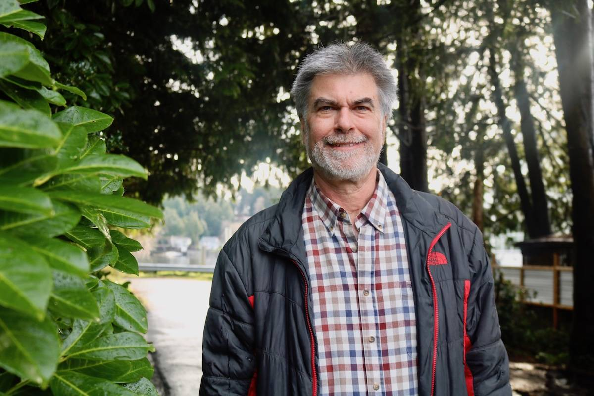 "Sooke's Jim Bottomley is among a handful of futurists based in Canada. ""I want to help people understand the future of humanity."" (Aaron Guillen - Sooke News Mirror)"