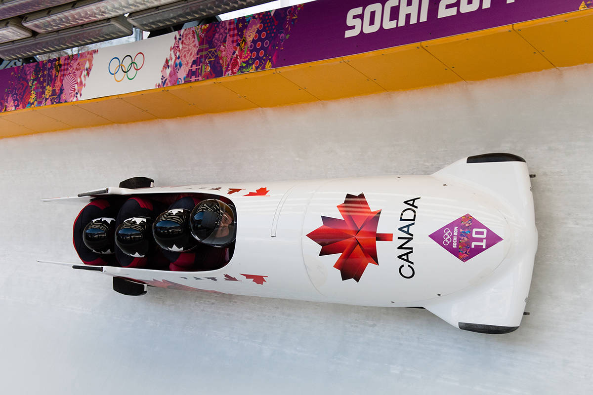 Justin Kripps of Summerland and his team have competed in Olympic action and World Cup competitions in bobsleigh. (Jason Ransom-Canadian Olympic Comittee).