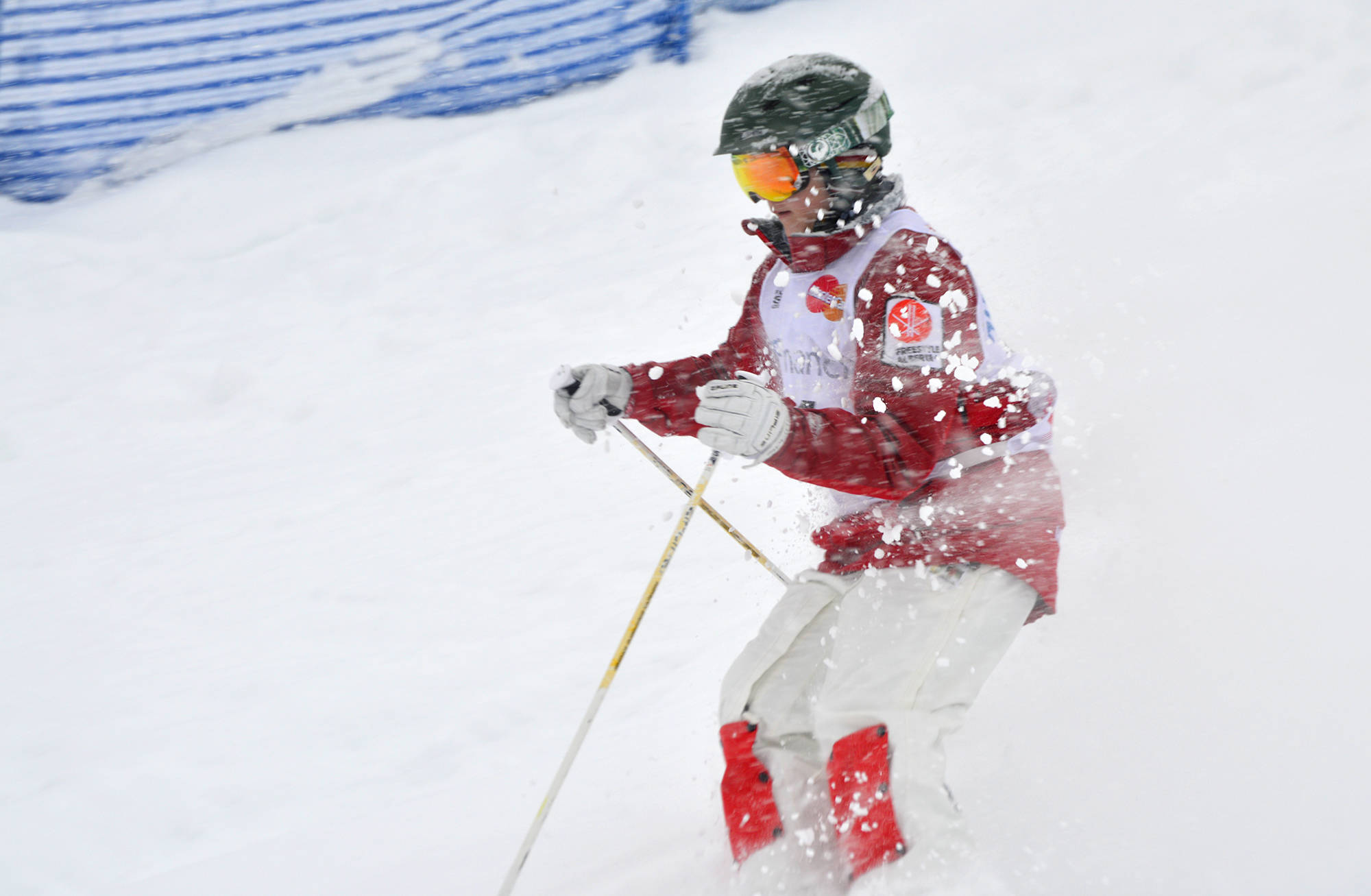 Jack Sadler competes in the under 16 division during the Provincial Moguls in Fernie in 2018. (Alexandra Heck - Black Press)