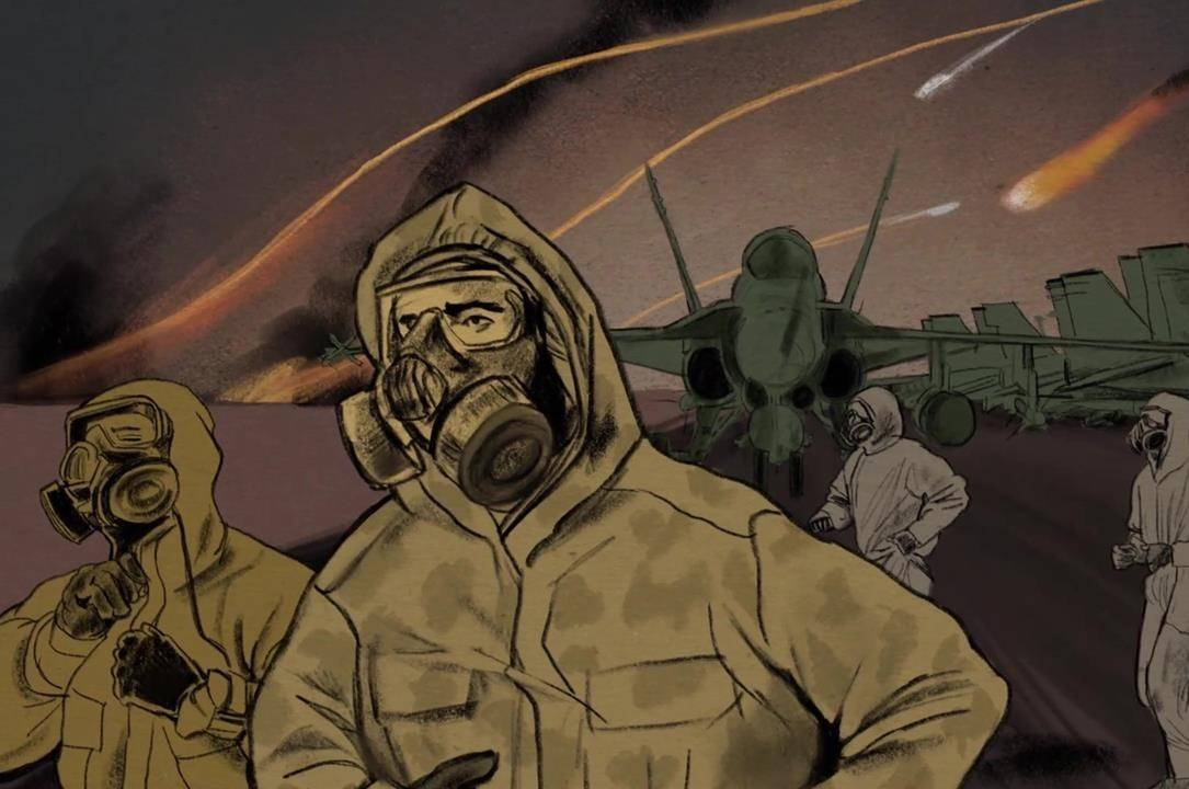 "A scene from ""Canada and the Gulf War: In their own words,"" a video by The Memory Project, a program of Historica Canada, is shown in this undated illustration. THE CANADIAN PRESS/HO - Historica Canada"
