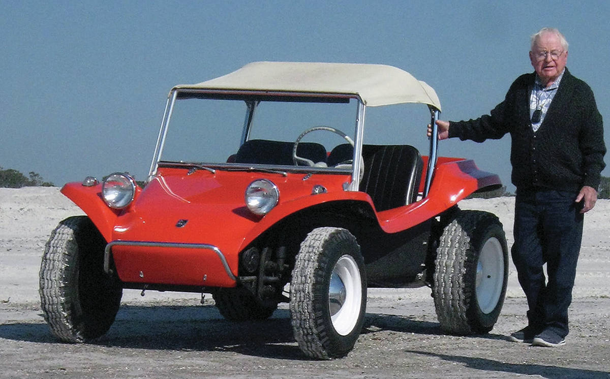 Bruce Meyers, now 94, used the framework of the Volkswagen Beetle to create the Manx buggy. The company has been sold to another that wants to build new Manx vehicles. PHOTO: VOLKSWAGEN