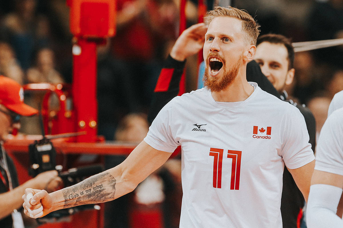 Dan Jansen VanDoorn, a Langley volleyball player and former TWU Spartan, was heading to Tokyo for with Team Canada. (Mark Janzen/Special to Black Press Media)