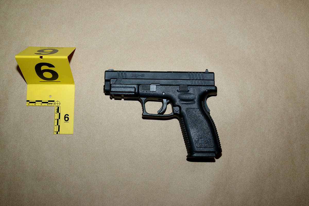 A handgun seized by Surrey RCMP. (Photo: Police handout)