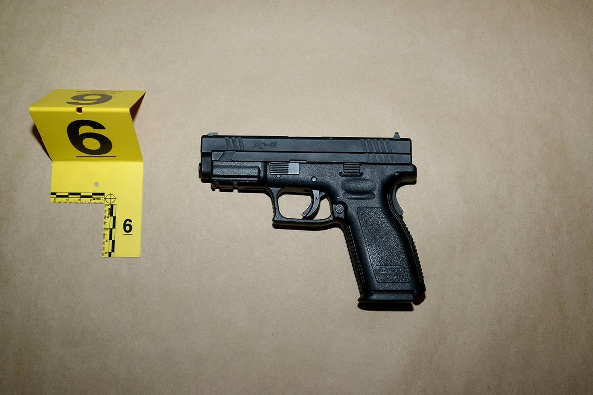 A handgun seized by Surrey RCMP. (Photo: Police handout)