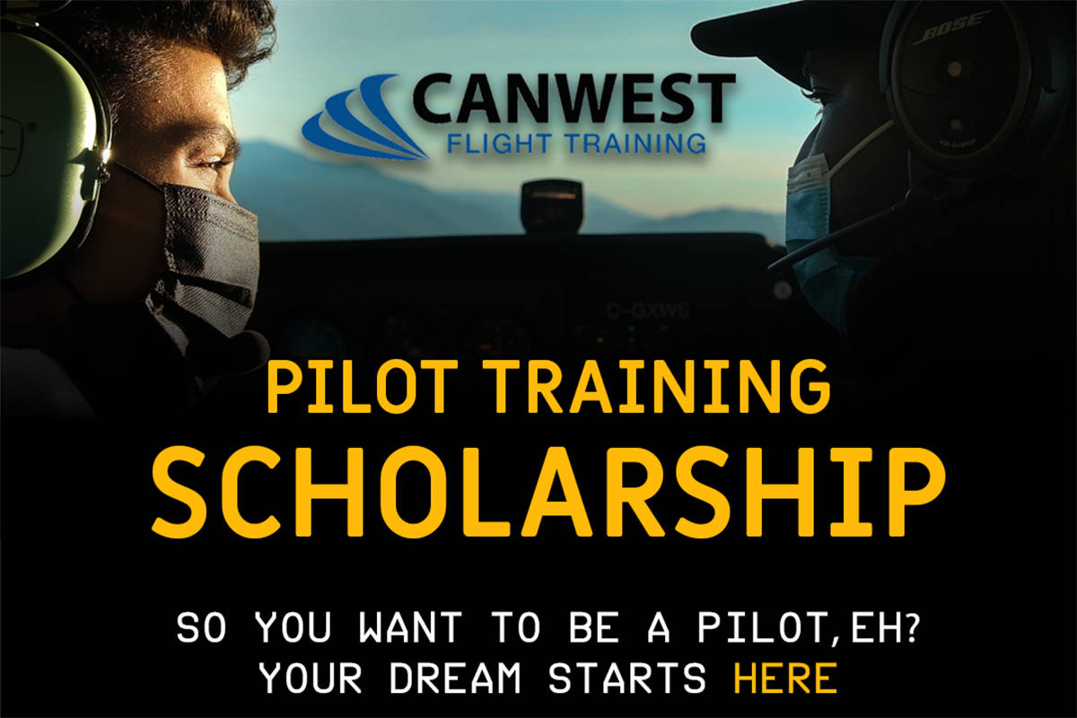 Abbotsford's Canwest Aero Inc. is offering two pilot training scholarships to celebrate the company's opening at the Abbotsford International Airport