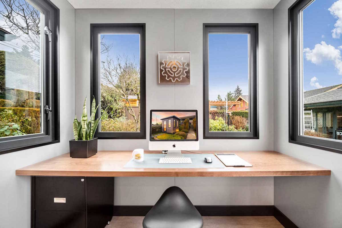 New Westminster TV production designer, Rick Whitfield, has designed an office in a box for British Columbians in need of a private workspace. (BC Box Office photo)
