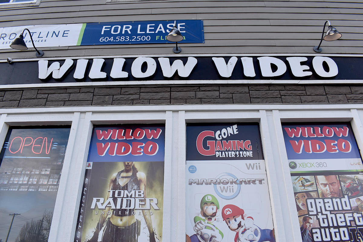 Abbotsford's Willow Video location will be closing at the end of the month. (Ben Lypka/Abbotsford News)