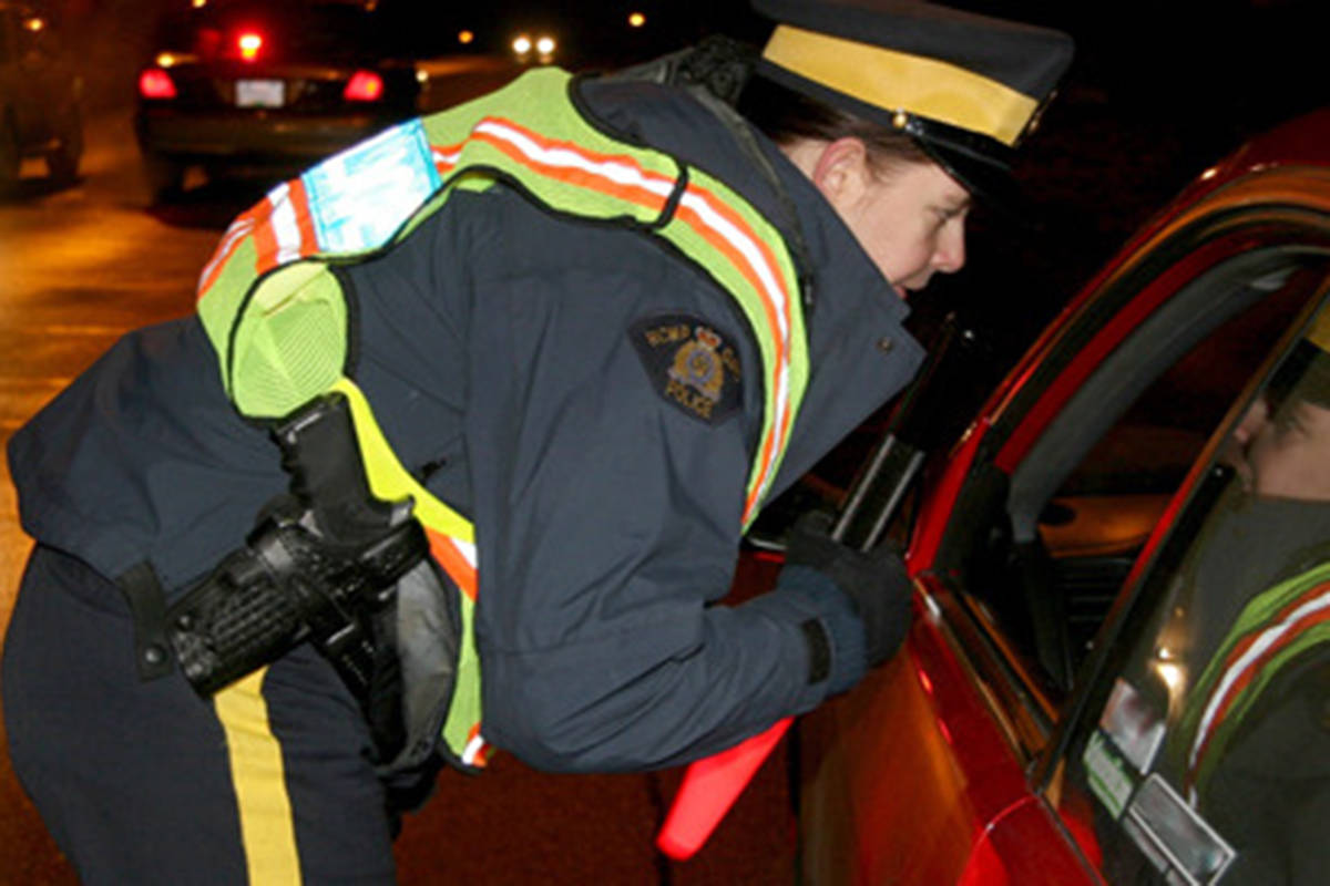 Throughout December, RCMP conducted CounterAttack road checks as police worked to keep roads free of impaired drivers. (BLACK PRESS file photo)