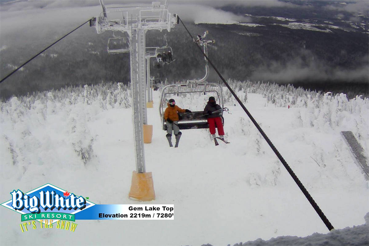 Gem Lake Top, at Big White Ski Resort, seen at Jan. 8. (Big White Ski Resort)