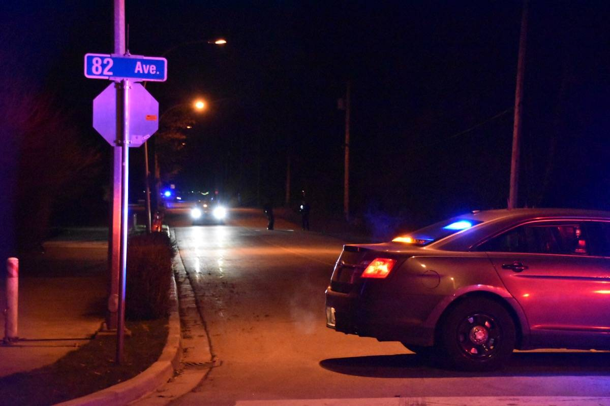 Police were called to the scene of 198A Street and 81st Avenue on the evening of Thursday, Jan. 21, 2021. (Curtis Kreklau/Special to Black Press Media)