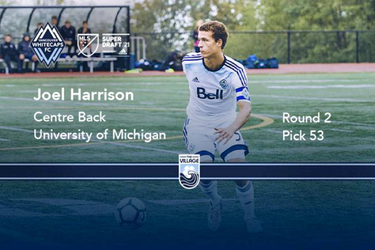Langley resident Joel Harrison has been signed by the Vancouver Whitecaps in the 2021 MLS Superdraft (Vancouver Whitecaps/Special to The Star)