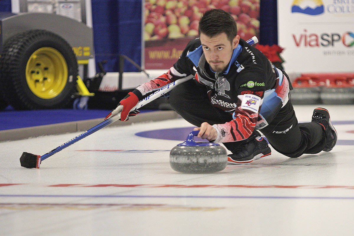 Tyler Tardi will serve as a fifth on Team Laycock at the 2021 Tim Hortons Brier. (Black Press Media file photo)