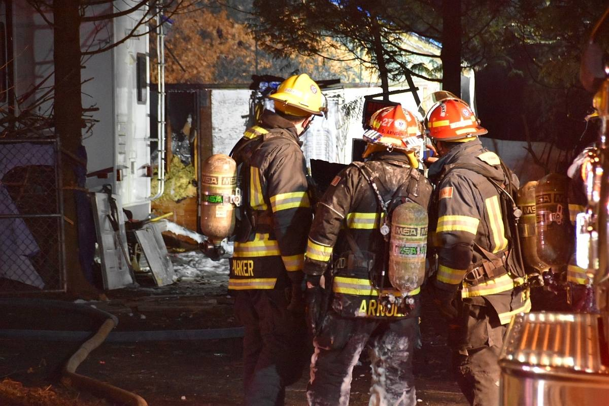 Township of Langley crews were called to a structure fire in the 7200blk 208th St in Willoughby on Friday, Jan. 22, 2020 (Curtis Kreklau/South Fraser News Services)