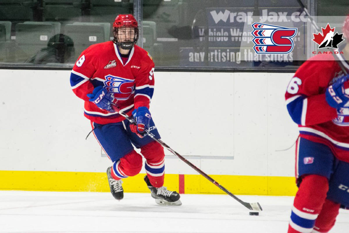 Abbotsford's Graham Sward was a member of the Chilliwack Junior Chiefs program from 2013-15 and is now a member of the Western Hockey League's Spokane Chiefs. (Spokane Chiefs photo)
