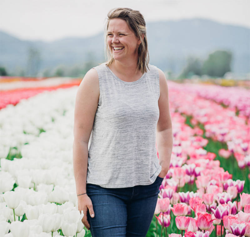 Alexis Szarek is the founder of Bloom: The Abbotsford Tulip Festival, which is permanently closing, with plans to set up in Armstrong, B.C. (Submitted photo)