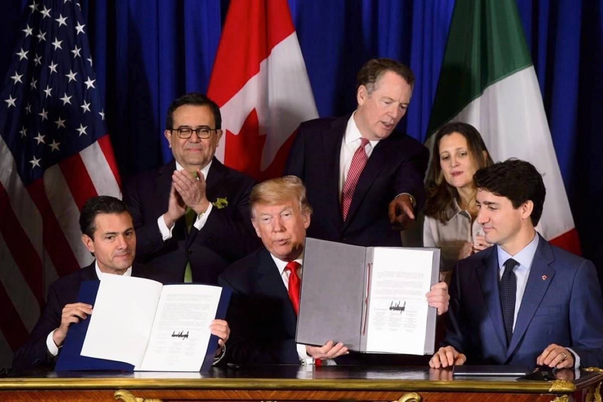 The U.S.-Mexico-Canada Agreement suddenly finds itself in the spotlight in the United States, in a May 28, 2020 story. (Photo by THE CANADIAN PRESS)