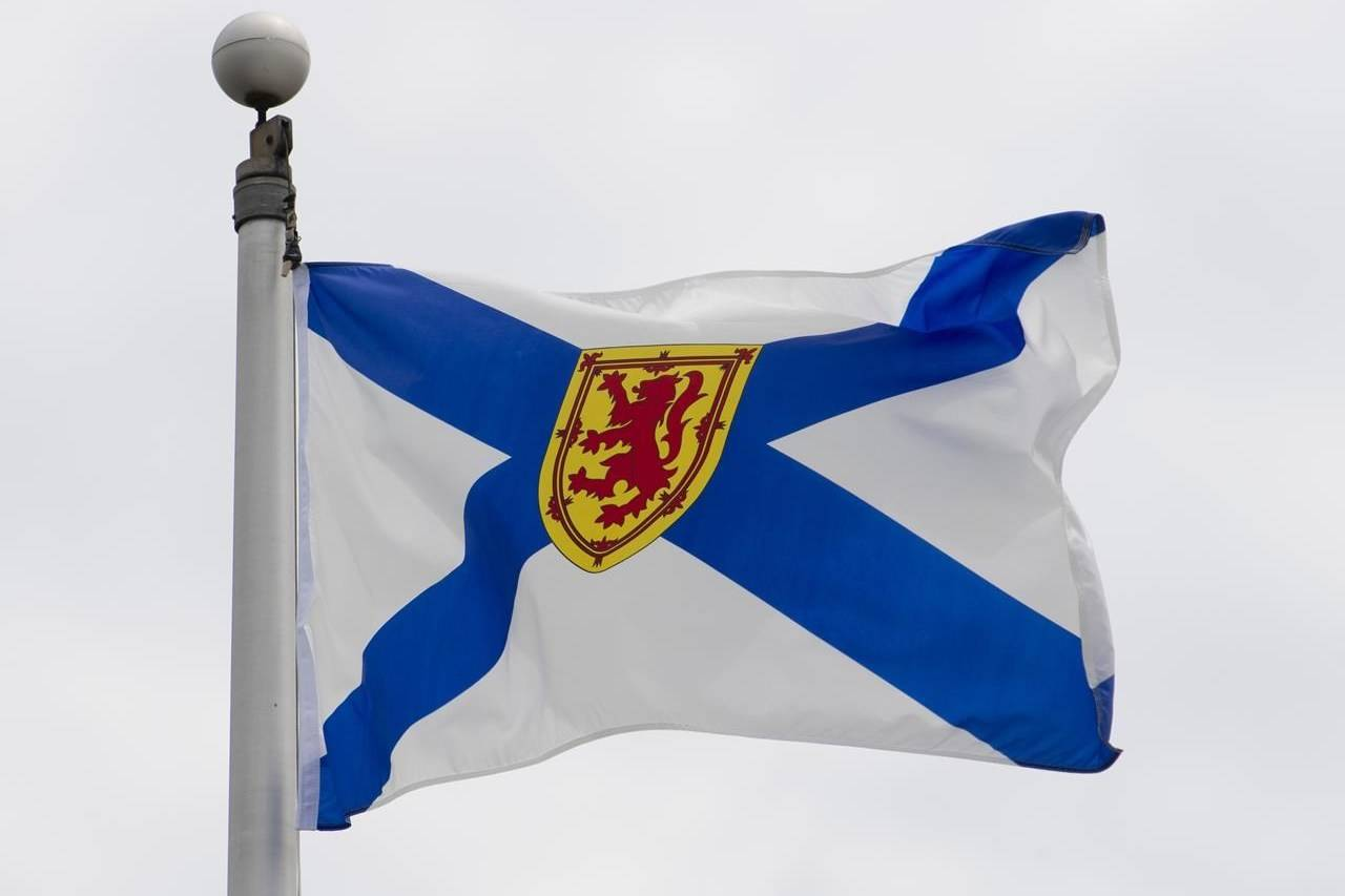 Nova Scotia's provincial flag flies in Ottawa, Friday July 3, 2020. THE CANADIAN PRESS/Adrian Wyld