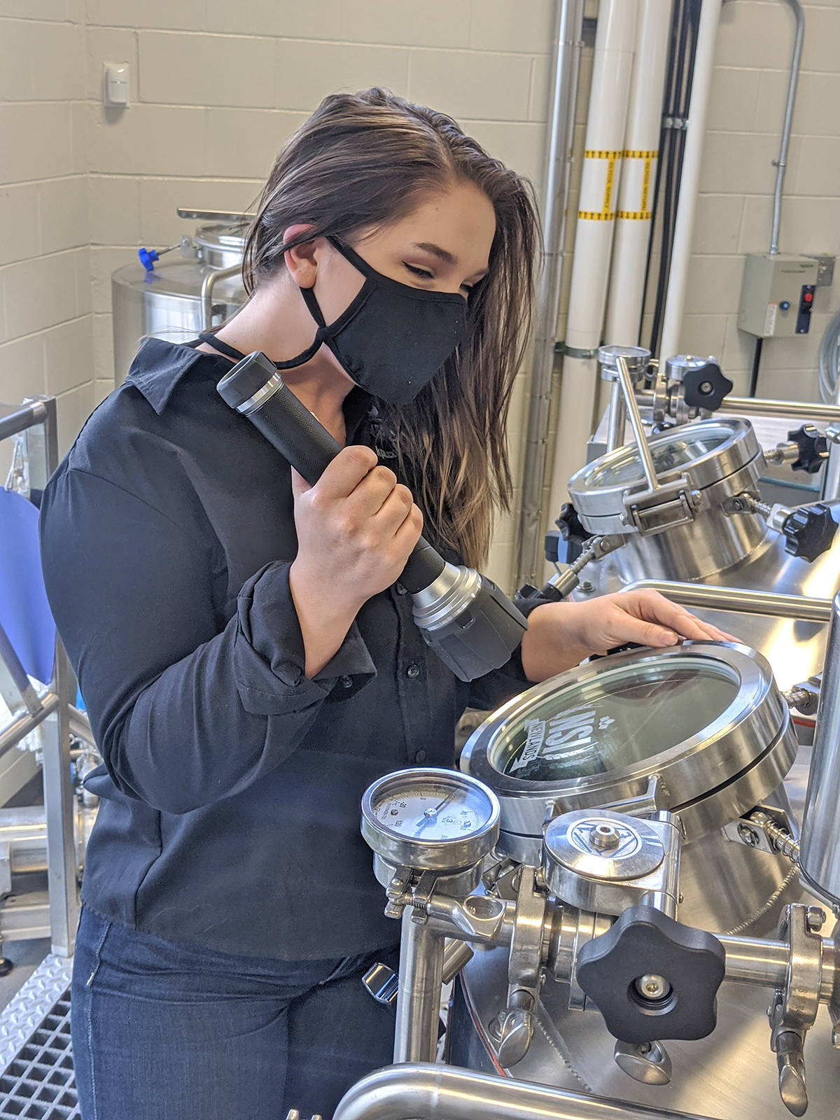 Kwantlen Polytechnic University brewing program student Emily Comeau is the first recipient of the Nancy More Award. (Rebecca Diel, KPU photo/Special to the Langley Advance Times)
