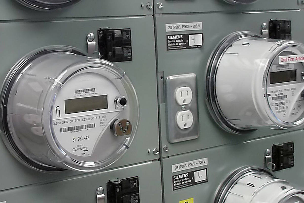Wireless meter testing at a BC Hydro facility. (Black Press Media file photo)