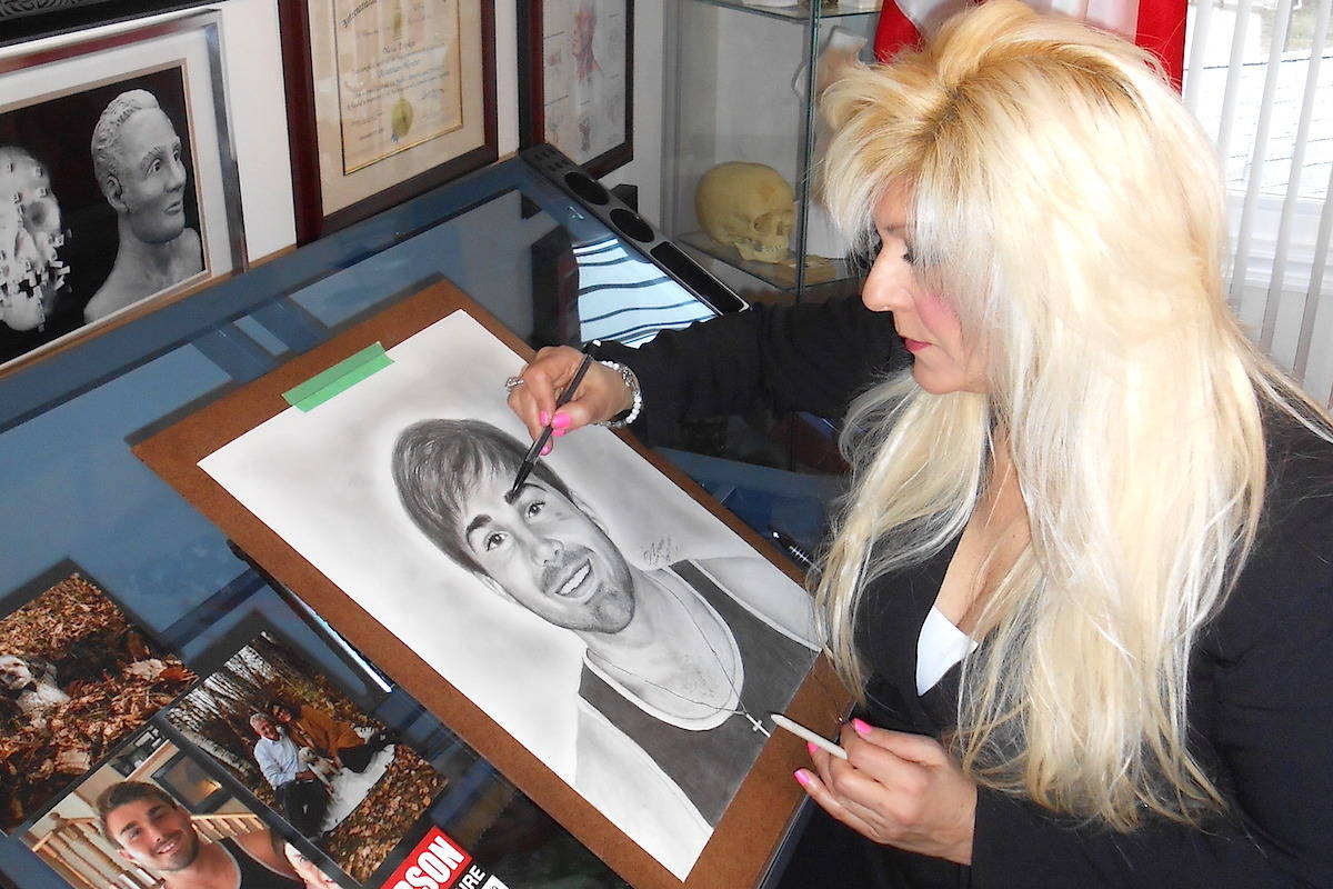 Age progression sketch of Kristofer Couture being completed by forensic sketch artist Diana Trepkov. (Diana Trepkov)