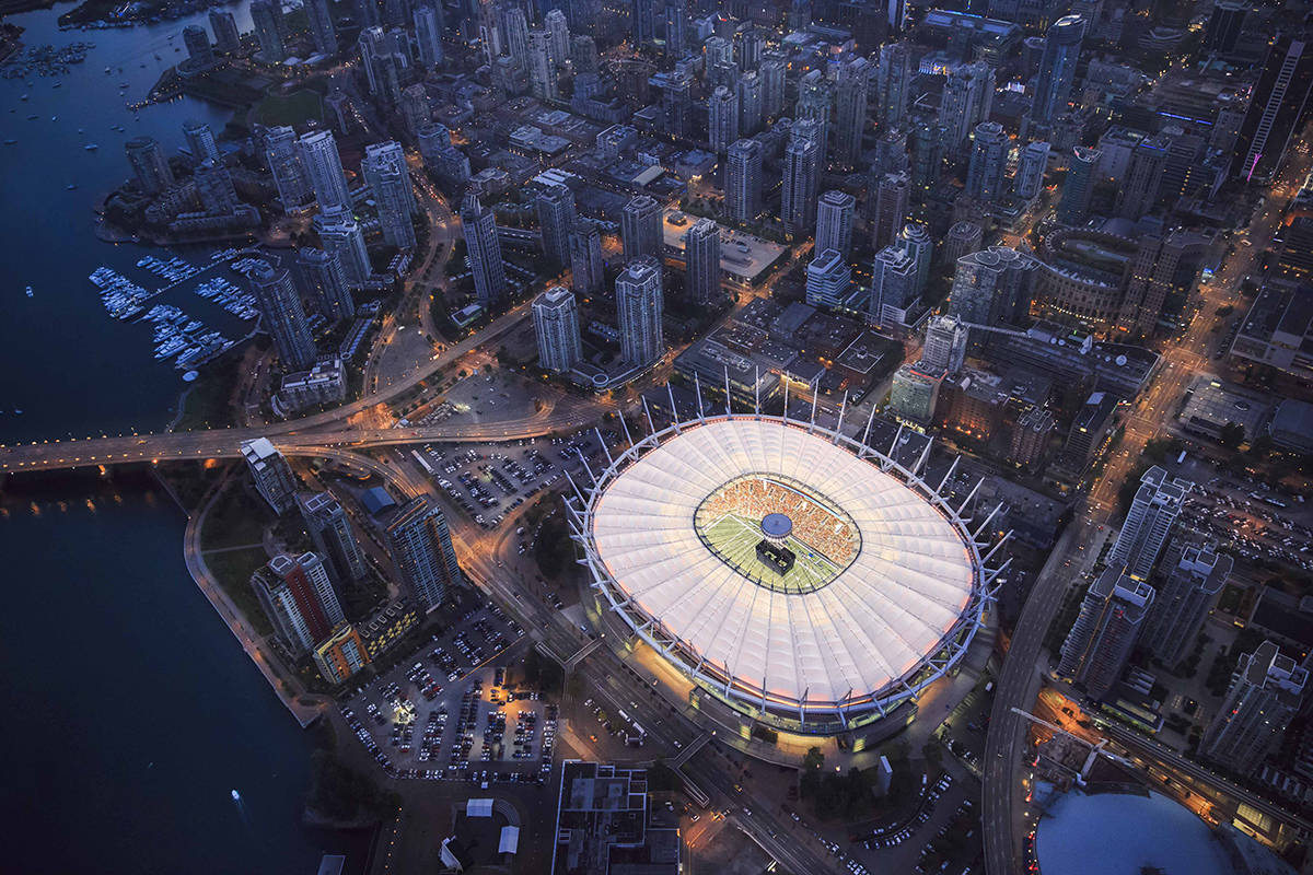 BC Place is expected to light up with a special display for Black History Month on Tuesday, Feb. 2, 2020. (BC Place)