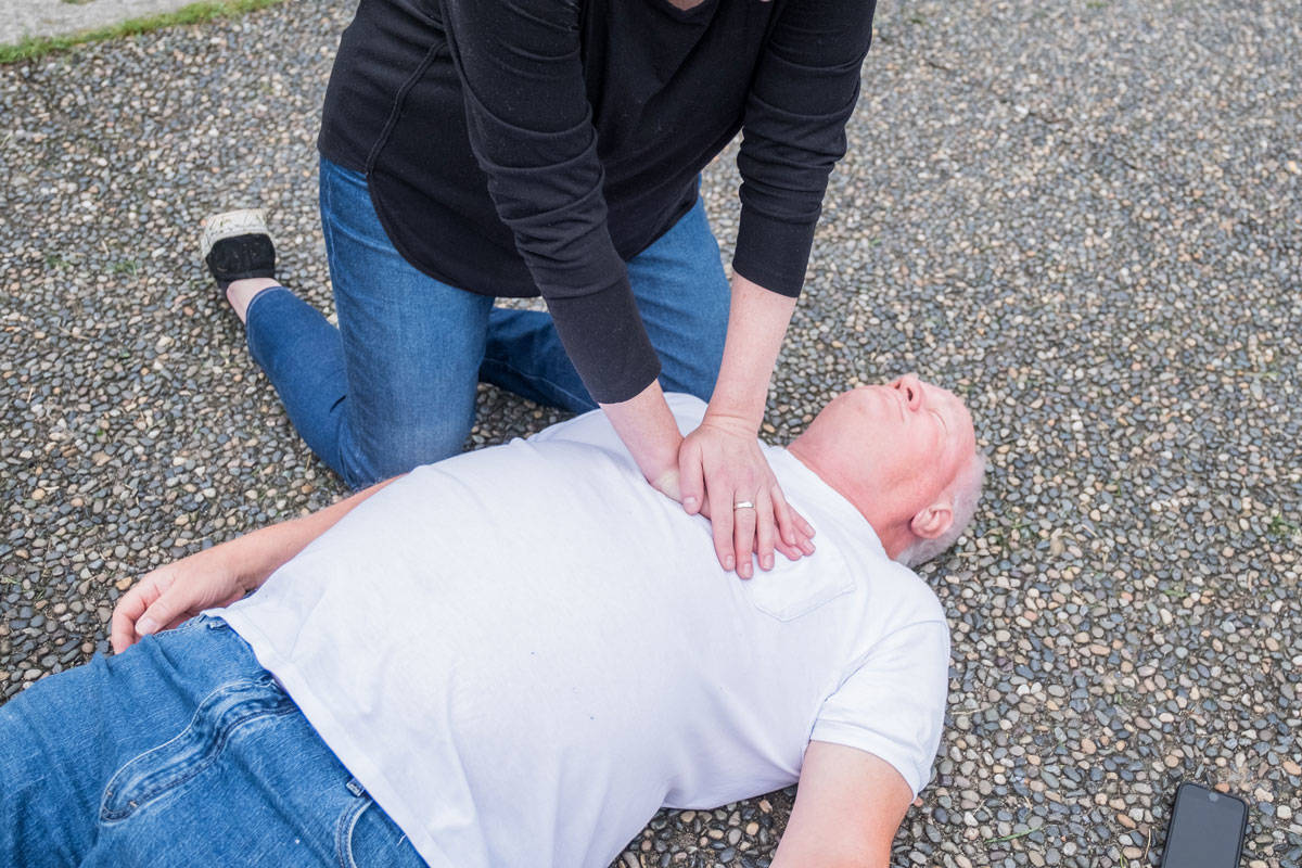 Hands-only CRP has been proven to be far more effective than mouth-to-mouth and is far safer during the COVID-19 pandemic, says Leon Baranowski, B.C. Emergency Health Services paramedic practice leader. (BCEHS stock photo)