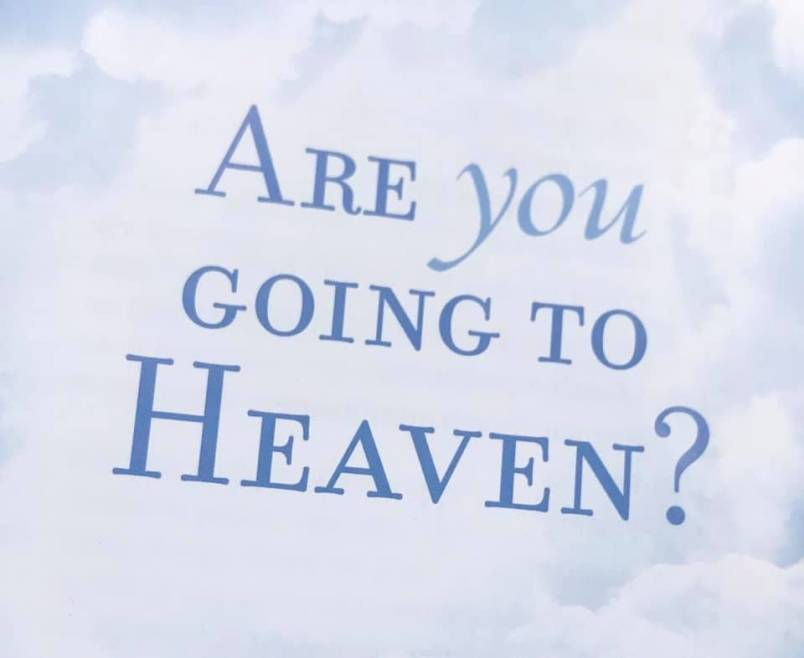 """In addition to the nails and screws, someone has been leaving religious pamphlets on windshields, with this one titled, """"Are you going to heaven?"""" (Yanina Yaretz photo)"""