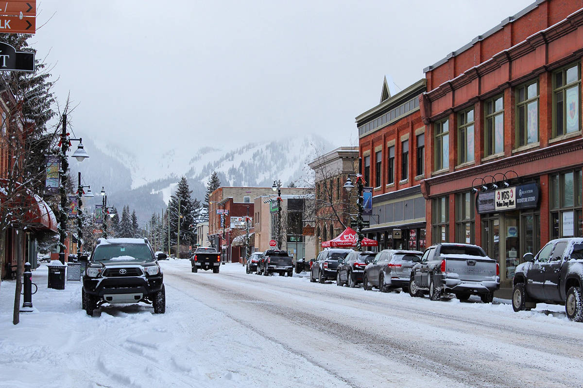 Downtown Fernie is pictured after a snowfall.