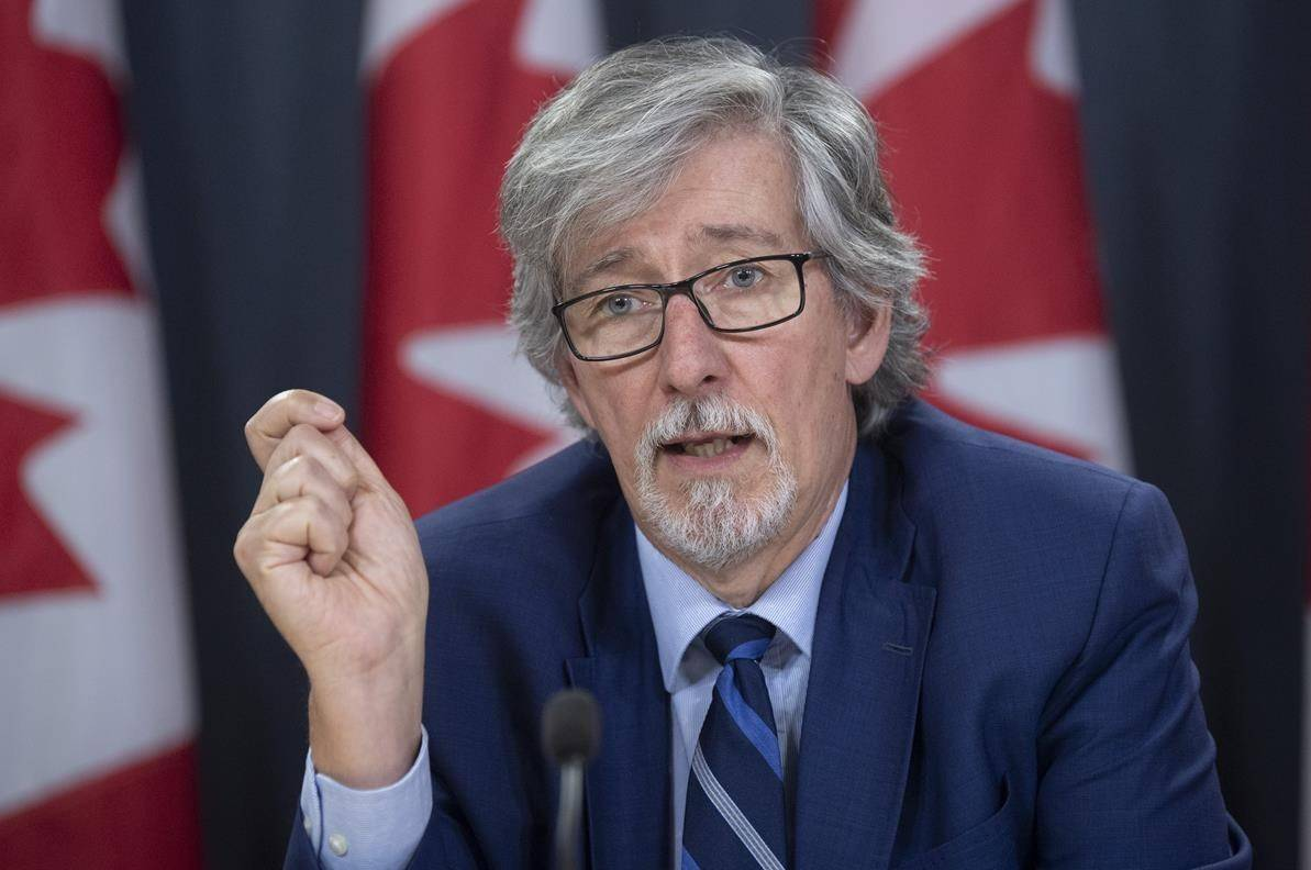 Privacy commissioner Daniel Therrien speaks during a news conference in Ottawa, Tuesday, Dec. 10, 2019. THE CANADIAN PRESS/Adrian Wyld