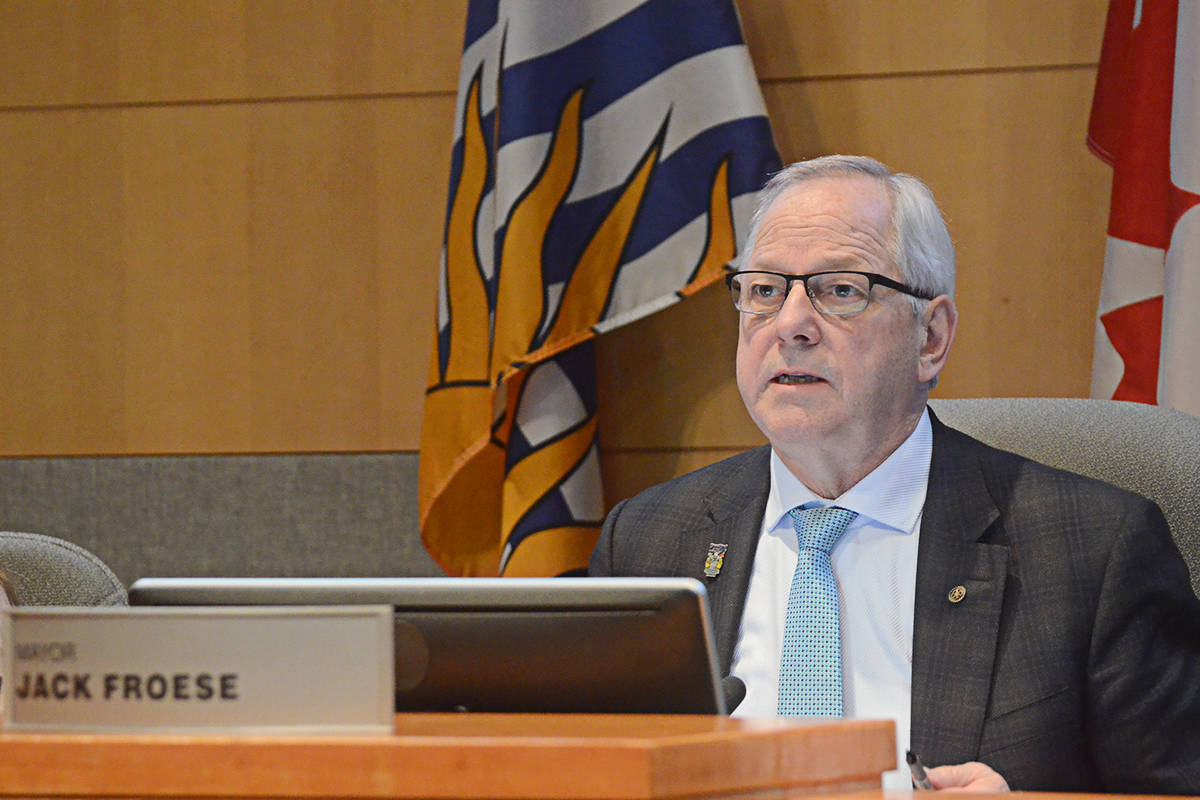 Langley Township Mayor Jack Froese says the public will soon get to comment on the proposed property tax increase of close to four per cent. (Langley Advance Times files)