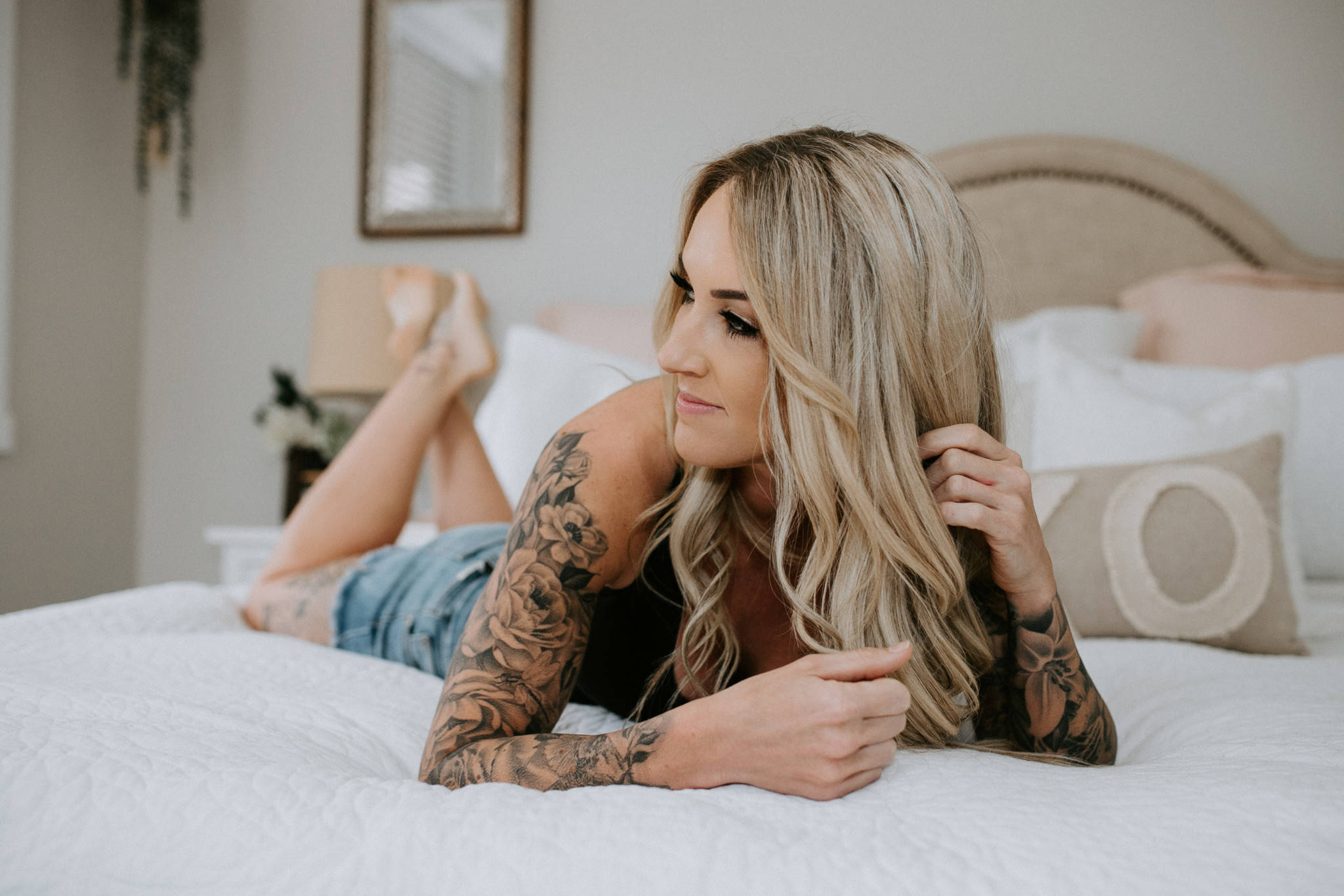 Lindsay Holt, 36, has entered the Inked Magazine cover girl contest. The Langley mother of two says the prize money would provide financial security for her family. (Stacey Firth/Special to Langley Advance Times)