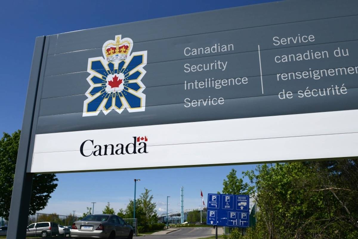 A sign for the Canadian Security Intelligence Service building is shown in Ottawa, May 14, 2013. (Sean Kilpatrick/THE CANADIAN PRESS)