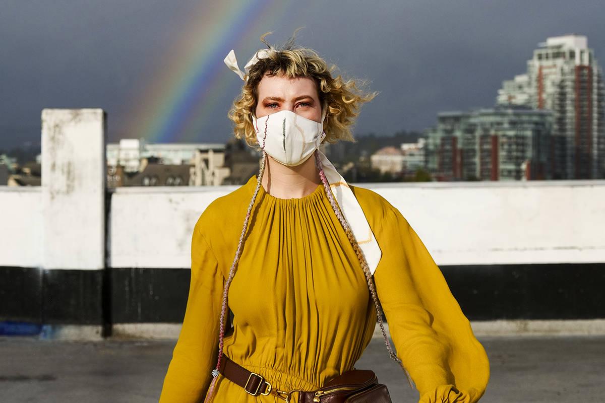 Rainbow fashion, Lia Crowe photo