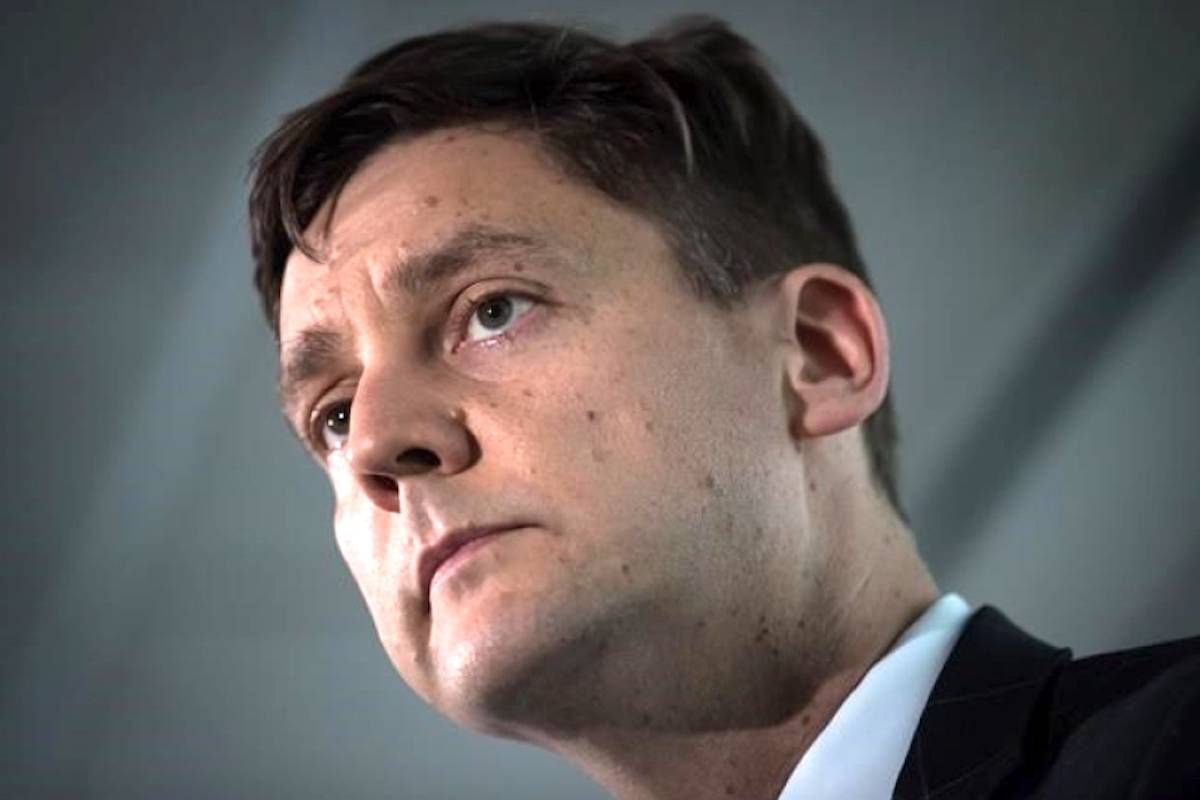 British Columbia Attorney General David Eby listens during a news conference in Vancouver, on Friday May 24, 2019. THE CANADIAN PRESS/Darryl Dyck