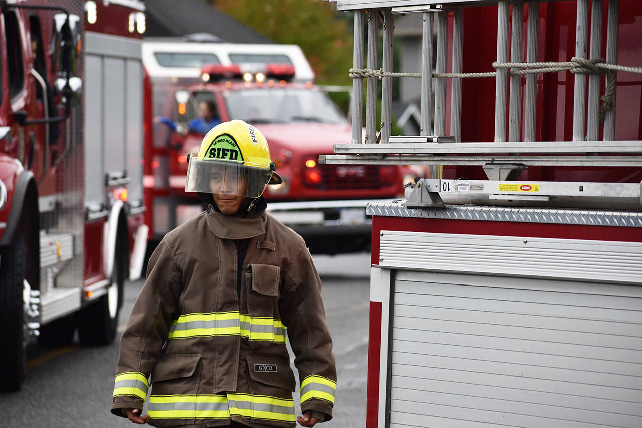 A member of the Seabird Island Fire Department. (Grace Kennedy/The Observer)