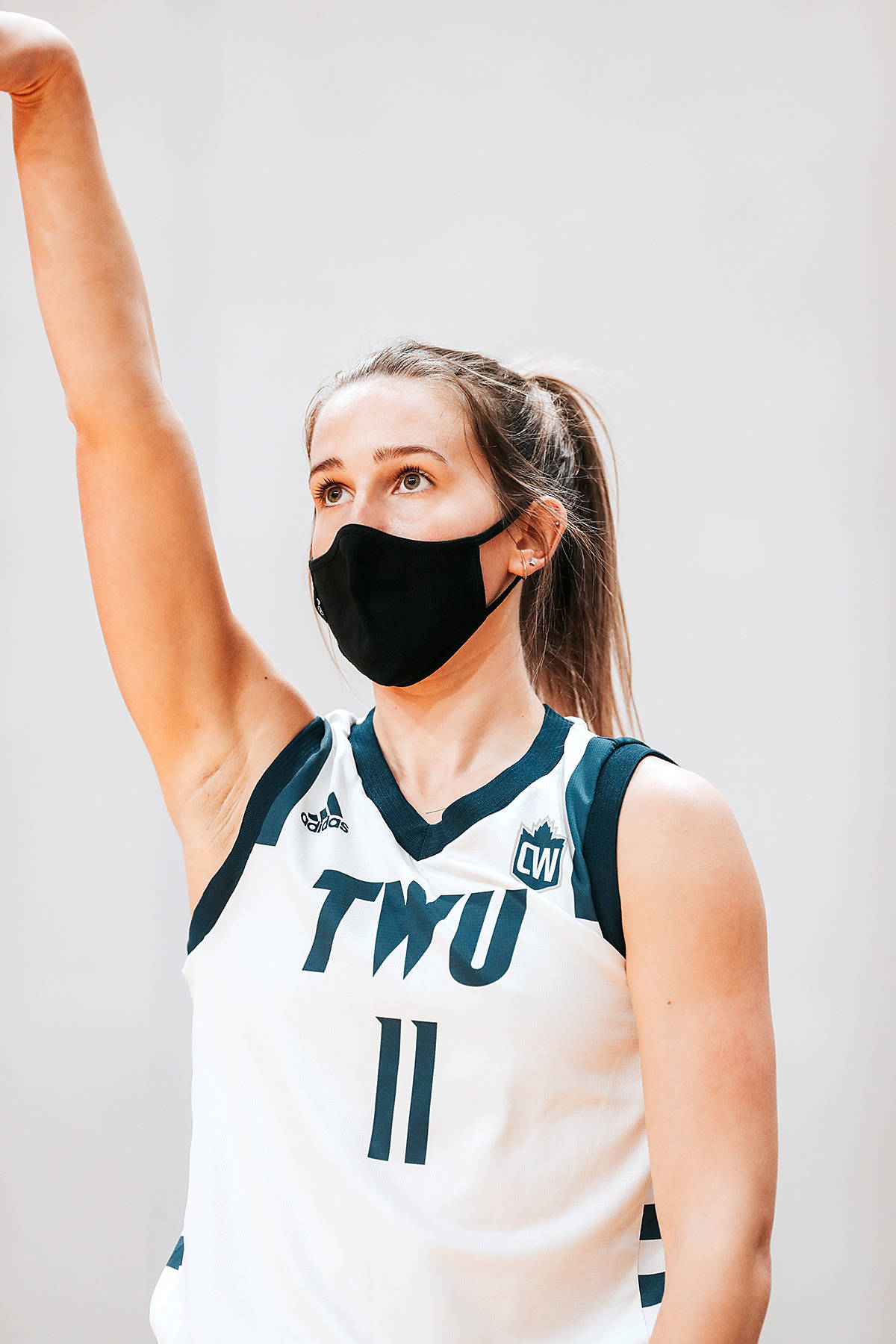 Trinity Western Spartans hosted its first skills challenge competition on Thursday at Langley Events Centre, which saw Nicole Fransson participating. (Mark Janzen/TWU Athletics)