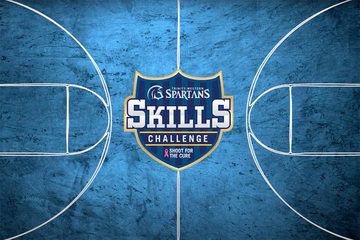 Trinity Western Spartans hosted its first skills challenge competition on Thursday at Langley Events Centre. The event raised more than $2,700 for the Canadian Cancer Society. (Mark Janzen/TWU Athletics)