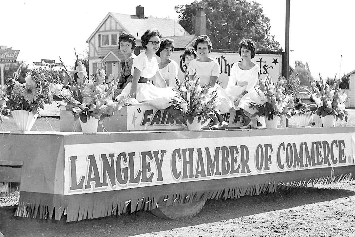 The Langley chamber of commerce took part in a 1961 community parade. (Langley Advance Times files)