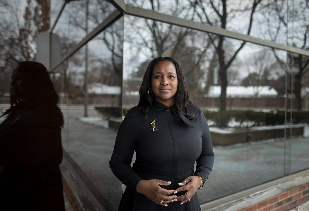 Nadine Spencer, the president of Black Business and Professional Association, poses for a photograph in Toronto on Friday, January 29, 2021. THE CANADIAN PRESS/ Tijana Martin