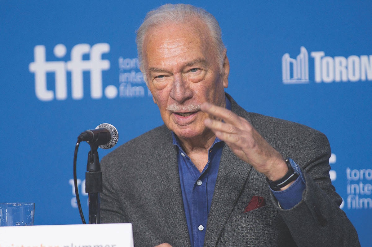 """Actor Christopher Plummer seen at the press conference for """"The Forger"""" during the 2014 Toronto International Film Festival on Sept. 12, 2014, in Toronto. (Photo by Arthur Mola/Invision/AP, File)"""