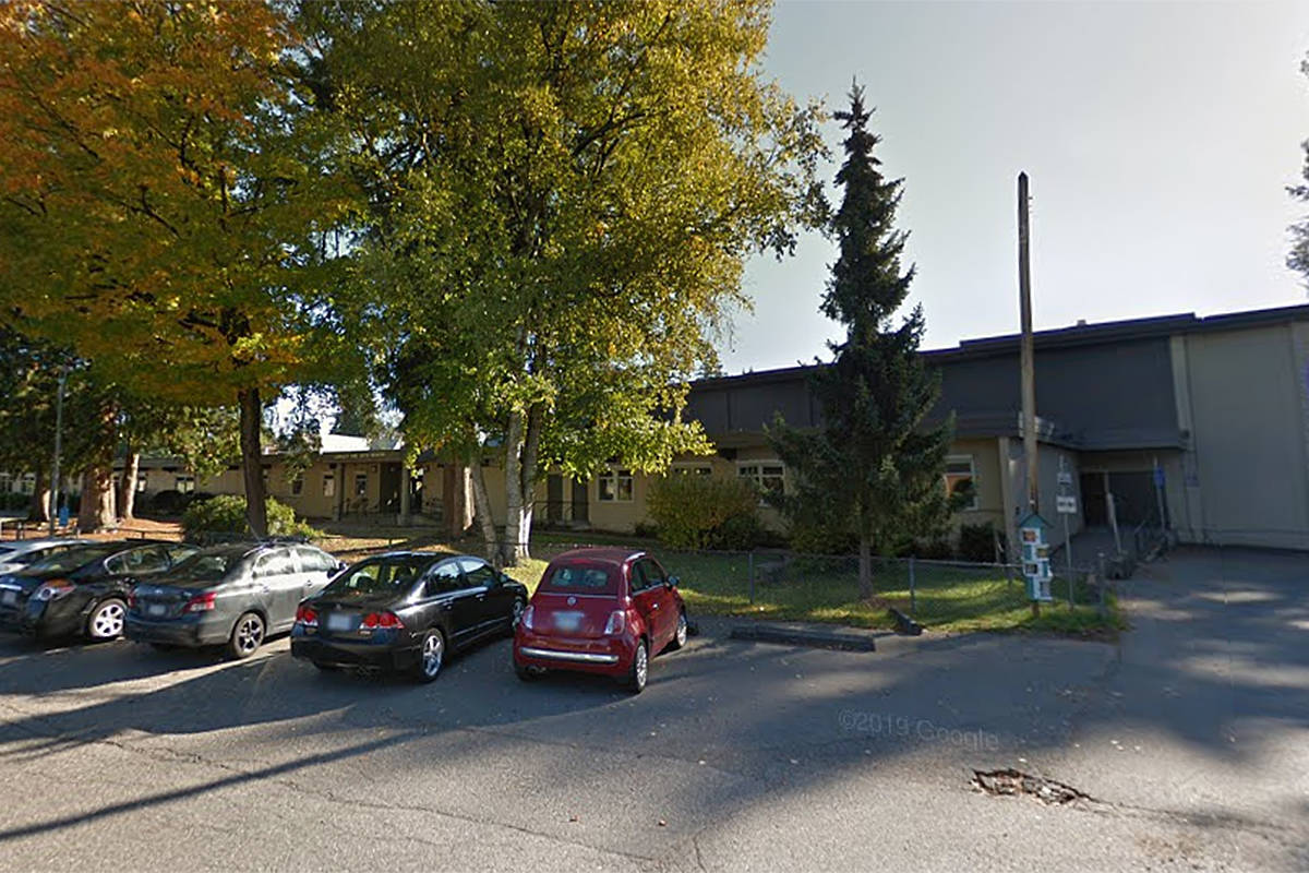 A COVID-19 cases has been reported at Langley Fine Arts School (undated Google Maps image)