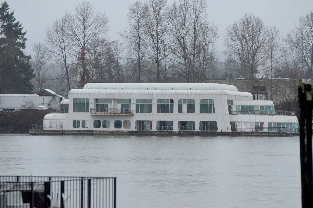 A Expo 86 icon was moved to Maple Ridge for restoration in 2015. Now the owner of the former floating McDonald's restaurant says he has plans to reopen the barge as a seafood restaurant once a high traffic location is secured. (Matthew Claxton/Black Press Media)