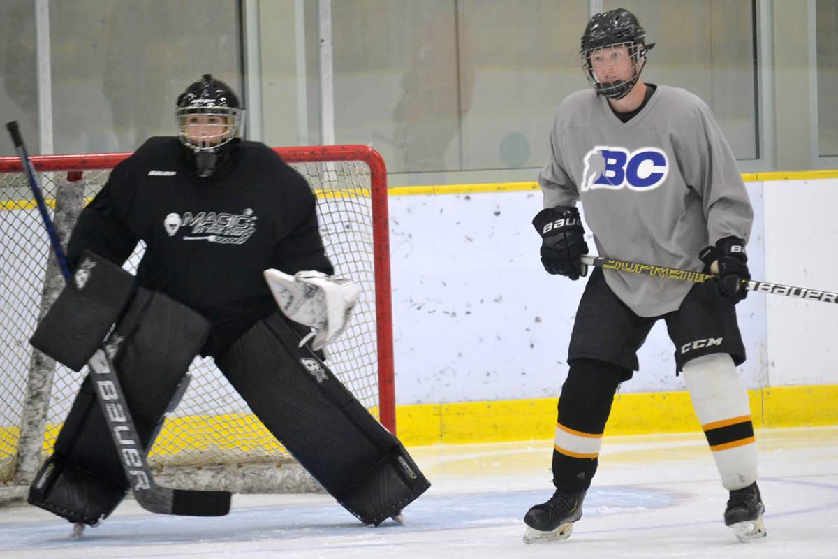 Aldergrove Kodiaks, seen here in a 2020 practice, are awaiting their return to Pacific Junior Hockey League play. (Ryan Uytdewilligen/Aldergrove Star file)