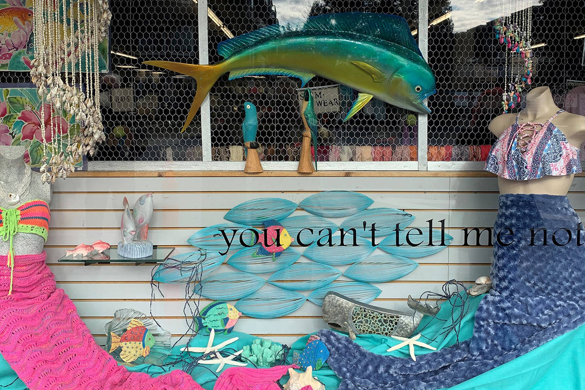 Thrift For Children Thrift Store's 'Travel dreams' entry for the Downtown Langley Business Association's Window Walk, Feb. 15 to March 15.
