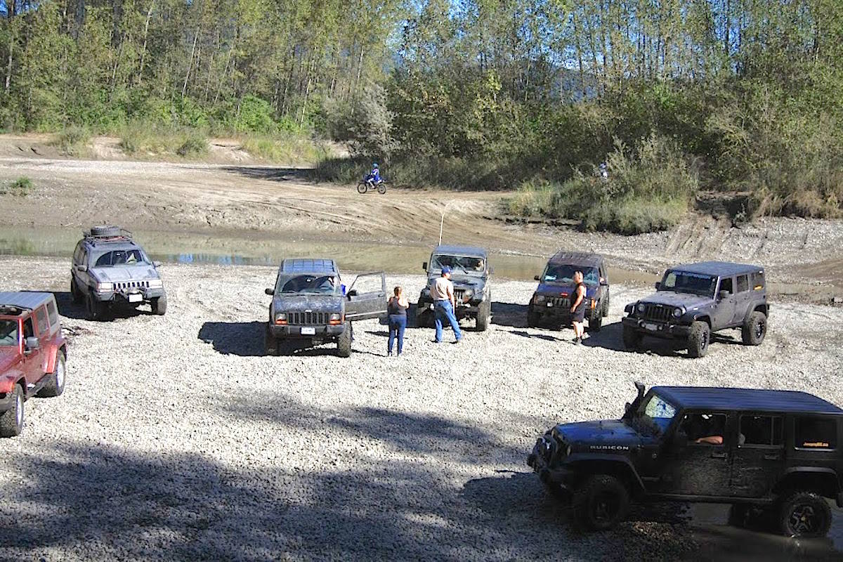 Gill Road bar is popular for recreation of all kinds, including dirt biking and four-wheeling. (Matt Ion photo)
