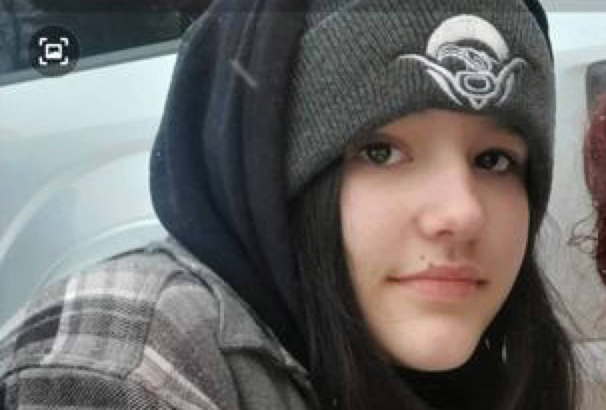 Mia Holmes is 12, and left home early Feb. 8. Photo Facebook