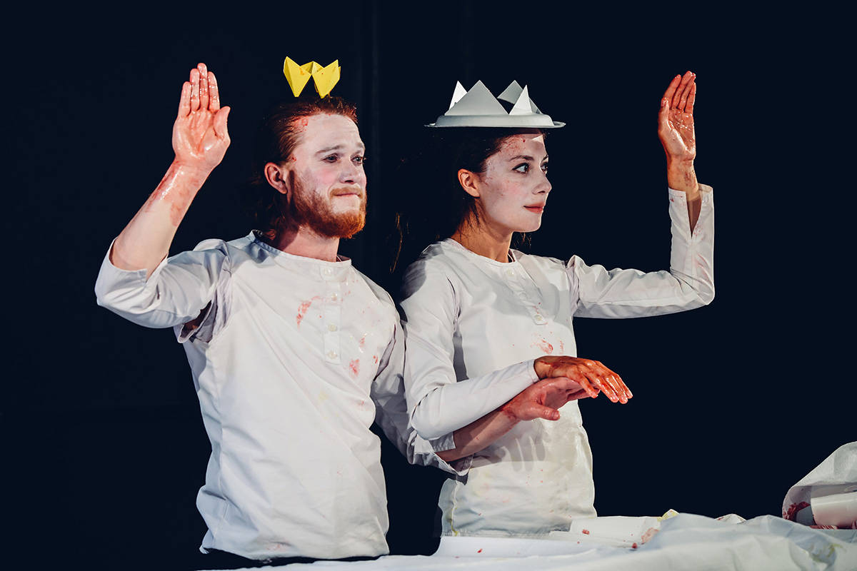 "Jon Lachlan Stewart and Marie Hélène Bélanger Dumas in ""Macbeth Muet."" (submitted photo: Sophie Gagnon Bergeron)"