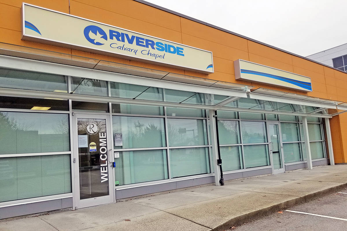 Langley RCMP have issued at least two tickets to the Riverside Calvary Chapel in Langley for continuing to hold services despite public health orders. (Langley Advance Times file)